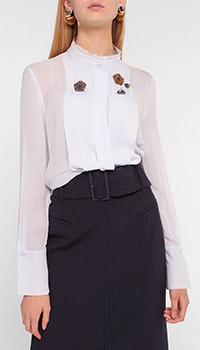 Голубая блузка Luisa Cerano с декором-стразами, фото