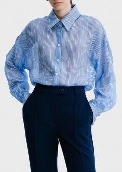 Шелковая рубашка Shako в тонкую полоску, фото