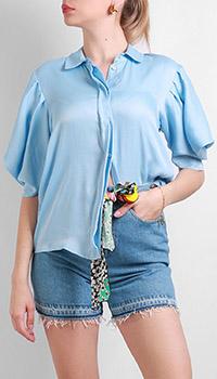 Голубая рубашка Be Blumarine с пышными рукавами, фото