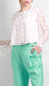 Белая блузка Be Blumarine с кружевом, фото