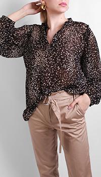 Черная рубашка Luisa Cerano с длинным рукавом, фото