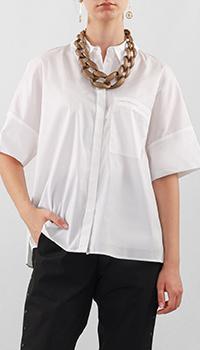 Белая блузка Luisa Cerano свободного кроя, фото