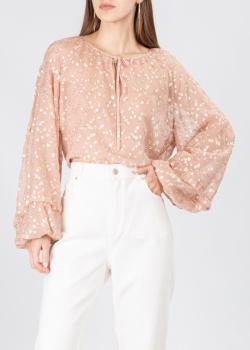 Шелковая блуза Luisa Cerano с пышными рукавами, фото
