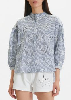 Полосатая блузка Twin-Set с вышивкой-ришелье, фото