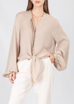 Шелковая блуза Dorothee Schumacher с объемными рукавами, фото