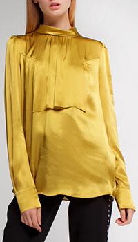 Золотистая блузка Twin-Set с длинным рукавом, фото