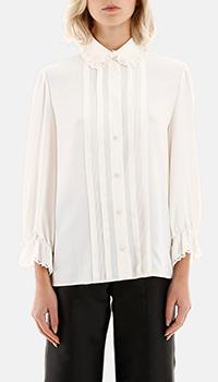 Белая блузка Celine с оборками, фото