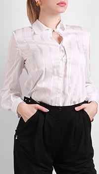 Белая рубашка Patrizia Pepe с логотипом на спине, фото