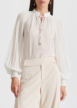Белая блузка Patrizia Pepe с пышными рукавами, фото