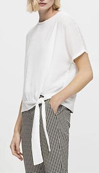 Белая блузка Luisa Cerano с коротким рукавом, фото