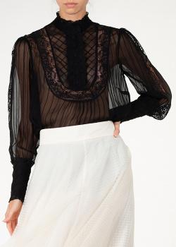 Прозрачная блуза Zimmermann черного цвета, фото