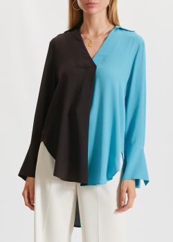 Двухцветная блуза Beatrice.B с шелком, фото