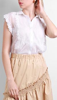 Белая блузка Ermanno Ermanno Sсervino с кружевом, фото