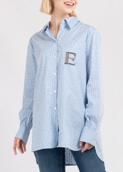Голубая рубашка Ermanno Ermanno Scervino в полоску, фото