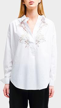 Белая блузка Ermanno Scervino с бантом, фото