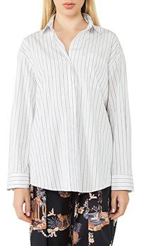 Белая рубашка Max Mara в полоску, фото