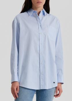 Полосатая рубашка Max Mara Weekend голубого цвета, фото