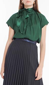 Шелковая блуза Laurel с воротником-бантом, фото