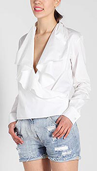 Рубашка Polo Ralph Lauren с запахом и воланами, фото