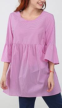 Туника Zanetti 1965 розового цвета в полоску, фото