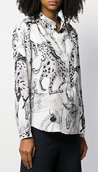 Шелковая рубашка Stella McCartney с цветочным принтом, фото
