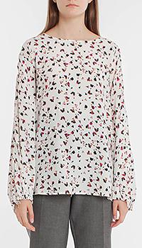 Блузка кремового цвета Dorothee Schumacher с мелким принтом, фото