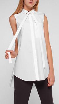 Белая блузка Dorothee Schumacher удлиненная сзади, фото