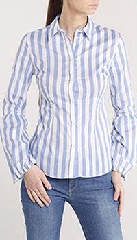 Полосатая рубашка Trussardi Jeans с длинным рукавом, фото