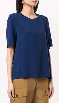 Синяя блузка Stella McCartney с коротким рукавом, фото