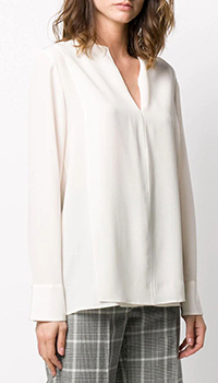 Шелковая блузка Stella McCartney молочного цвета, фото