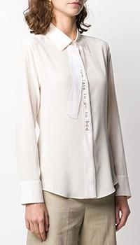 Шелковая рубашка Stella McCartney песочного цвета, фото