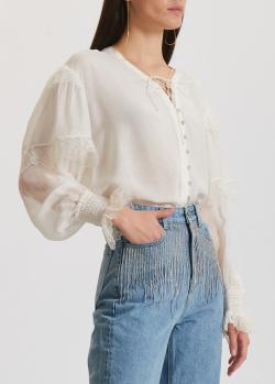 Шелковая блузка Miss Sixty с пышными рукавами, фото