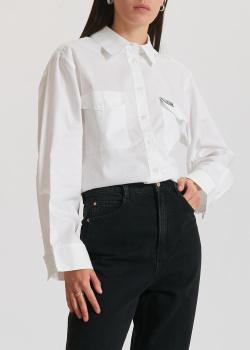 Белая рубашка Miss Sixty с брендовой нашивкой, фото