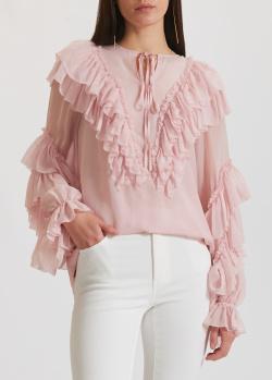 Шелковая блузка Miss Sixty с рюшами, фото