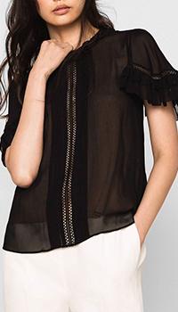 Черная блуза Twin-Set с воланами, фото