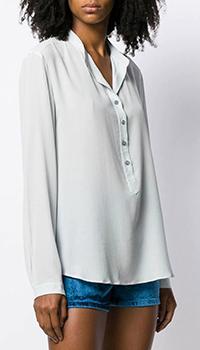 Шелковая блузка Stella McCartney голубого цвета, фото