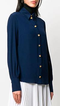Шелковая рубашка Gucci Cruise 2020 синегоцвета, фото