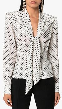 Блузка в горошек Dolce&Gabbana из шелка, фото
