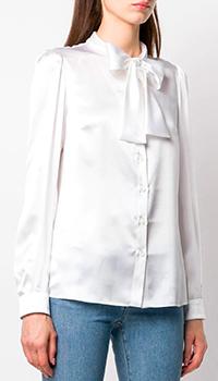 Шелковая блузка Dolce&Gabbana с бантом, фото