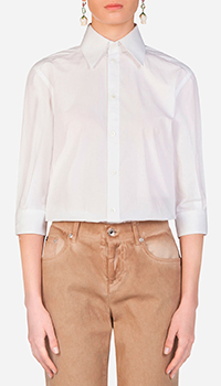 Белая рубашка Dolce&Gabbana с рукавом 3/4, фото