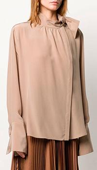 Блузка из шелка Fendi бежевого цвета, фото