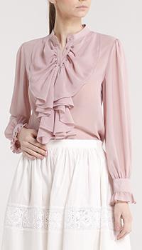 Розовая блуза Blugirl Blumarine с жабо, фото