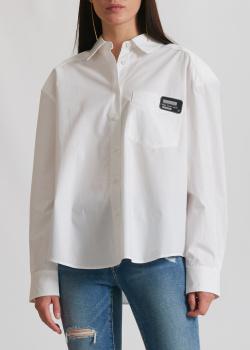 Белая рубашка Miss Sixty с накладным карманом, фото