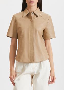 Кожаная рубашка Miss Sixty с коротким рукавом, фото
