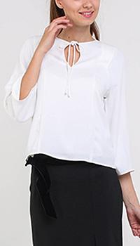 Белая блуза Armani Jeans с рукавами три четверти, фото
