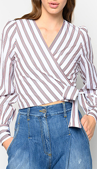 Белая блузка Pinko в полоску, фото