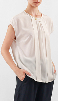 Белая блуза Peserico со складками, фото