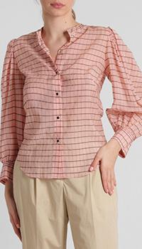 Розовая блузка Dorothee Schumacher в клетку, фото