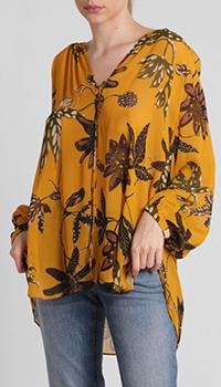 Оранжевая блузка Dorothee Schumacher с цветочным узором, фото
