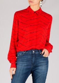 Красная блузка Love Moschino с принтом, фото